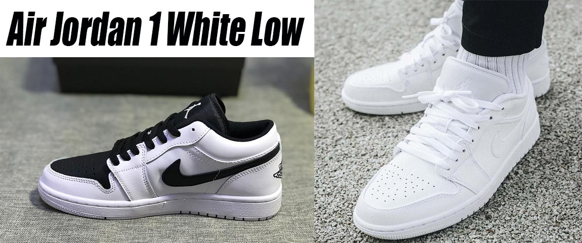 air jordan 1 low white on feet