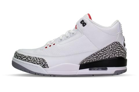 air jordan 3 cement white