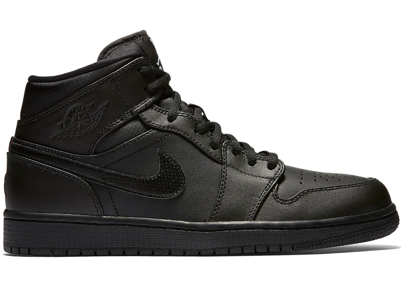 air jordan mid 1 black