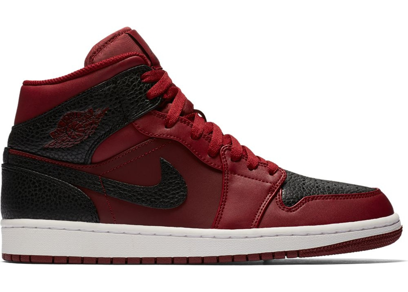 air jordan red and black